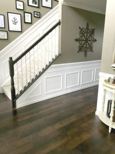 6 Resourceful Tips AND Tricks: Craftsman Wainscoting Hallways gray wainscoting fireplaces.White Wainscoting Wood Trim wainscoting around windows craftsman style.Wainscoting Living Room Home. Home, Home Upgrades, Foyer Decorating, House Design, Home Remodeling, New Homes, House Interior, Wainscoting Styles, Home Renovation