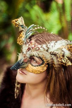 Great Horned Owl Masquerade Mask - Handmade with new and  Recycled Materials II/12. $75.00, via Etsy.