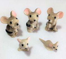 Vintage mid century set of 3 hand crafted Cloisonn\u00e9 mini kangaroo figurines