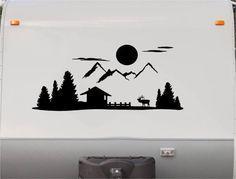Mountains Motorhome Stripe Kit - Cabin RV Stickers - Trailer Stickers- Camper Vinyl Decal- Sticker Graphic- Motorhome Decals- RV Stripe Kit-