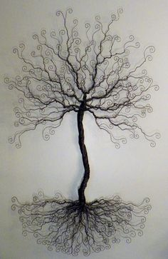 4 foot wire tree wall mount sculpture display by ivysgembox, $245.00