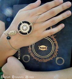 Game of Thrones Romance Romantic JEwelry Boho Jewelry Arabian Jewelry Belly Dance Jewelry Moon Spell Slave Bracelet Hand Jewelry by IllyrianTreasure on Etsy, $14.00