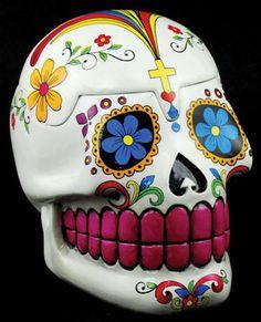 White Day of the Dead Skull Box