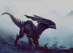 Deviant Art Board / This looks like something from StarCraft and the Jurassic Age at the same time, it's so creative and I love it! (Xeno - Ciraptor by norbface.deviantart.com on @DeviantArt)