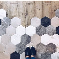 Haus wohnung Standing at the precipice of greatness and beautiful tile, what a place to be 🙌🏻 [ Home Renovation, Home Remodeling, Floor Design, My Dream Home, Tile Floor, Wood Tiles, Home Improvement, Interior Design, Home Decor Ideas