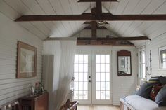 This Woman Turned Grandma's Garage Into A Cozy Cottage, For Less Than The Price Of A Used Car – Family Room İdeas 2020 Garage Renovation, Garage Remodel, Garage Makeover, Garage Apartment Interior, Garage Apartments, Garage Studio Apartment, Apartment Ideas, Garage Conversion To Family Room, Garage Conversions