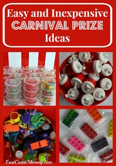 These are awesome ideas for Carnival Prizes! Fantastic for a birthday party or a carnival fundraiser.