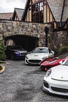 Porsche 911 GT3, Lamborghini Aventador, Maserati GranTurismo MC Stradale, Rolls Royce Wraith