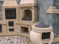 """Awesome """"built in grill patio"""" info is offered on our internet site. Check it out and you will not be sorry you did. Backyard Kitchen, Summer Kitchen, Outdoor Kitchen Design, Pizza Oven Outdoor, Outdoor Cooking, Parrilla Exterior, Brick Bbq, Diy Grill, Built In Grill"""