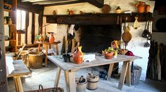 A typical Tudor-era kitchen.