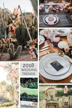 Valentina Vaguada: wedding, trends, boda, tendencias 2018, flowers, copper, vintage, romantic, geometric design