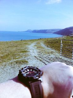Matthew and his #HAWK T100 on the West Wales  Coastal Path in glorious sun!
