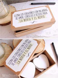 caja + corazones libro de firmas 15 años boda casamiento Wedding Notes, Wedding Tips, Diy Wedding, Dream Wedding, Signature Book, Bridal Shower, Baby Shower, Perfect Proposal, Table Signs