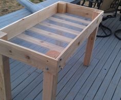 While the title of this DIY suggests that I made a raised bed planter, what it doesn't tell you is how raised it actually is. This planter sits about...