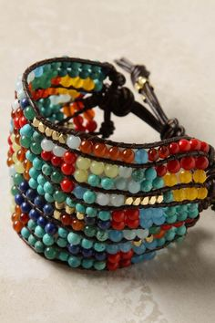DIY this bracelet. It reminds me of multi colored native corn....I don't know why.