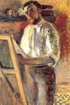 SELF PORTRAIT 64 x 54 cm. Private Collection 1900 by Henri Matisse