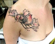 Charming robin by Anki Michler. More