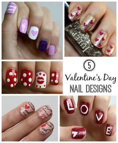 5 Valentine's Day Nail Designs