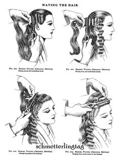 pin curl set pattern with its comb out appearance