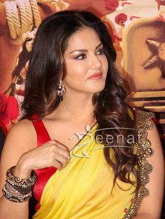 Ek Paheli Leela actress Sunny Leone spotted in a colorful lehenga saree during…