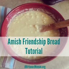 Amish Friendship Bread Tutorial   A Virtuous Woman - with LOTS of Tips you've never heard before!