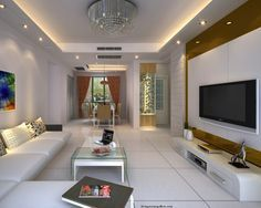 acoustic False Ceiling Designs with LED Ceiling Lighting Ideas
