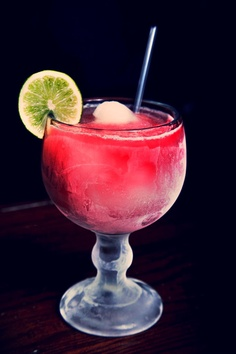 Pomegranate Margarita. $5.00 at El Fenix!