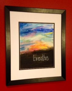 Original Watercolor Painting with Abstract by worDSMITHstudios, $14.00