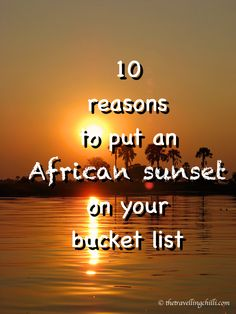 Africa is known for its incredibly beautiful golden sunsets. Who has not seen pictures of the open savannah plains with an acacia tree in the background and the silhouette of a lone giraffe strolling past, embraced by the warm golden glow of the setting sun.