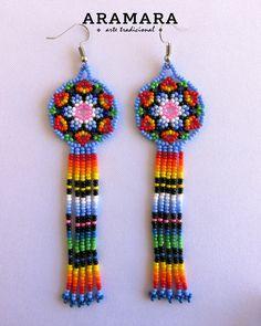 Seed Bead Earrings, Beaded Earrings, Beaded Jewelry, Beaded Bracelets, Beaded Flowers Patterns, Beading Patterns, Bead Loom Designs, Earring Tutorial, Bijoux Diy