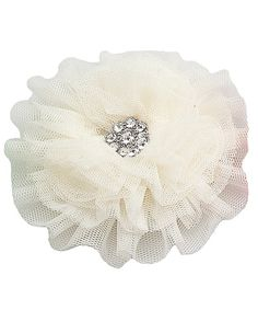 Cute tulle flower--I can make these, easy peasy.