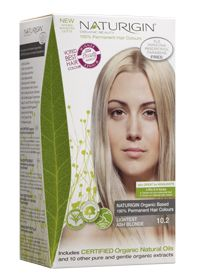 NATURIGIN 100% Organic Based Permanent Color 10.2 Lightest Ash Blonde http://www.simplynatural.ie/shop.137.html