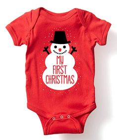 Look what I found on #zulily! Red 'My First Christmas' Bodysuit - Infant #zulilyfinds
