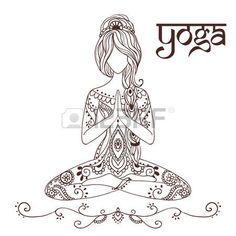 Die 37 Besten Bilder Von Vektor Yoga Coloring Books Coloring