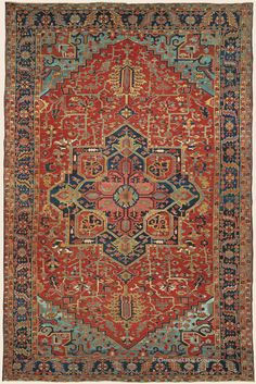 "HERIZ, 11' 10"" x 18' 2"" — Circa 1900, Northwest Persian Antique Rug - Claremont Rug Company  Click to learn more about this rug."