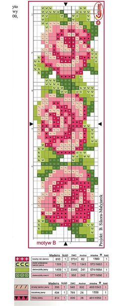 Rose needlework chart