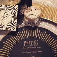 """Be still our hearts! Industry events are SO inspiring for decor ideas. #WIPAPhoenix #goldandblack #eventdecor #artdeco @foxrestaurantconcepts"" Photo taken by @phxbridegroom on Instagram, pinned via the InstaPin iOS App! http://www.instapinapp.com (02/03/2015)"