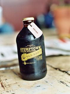 Stumptown Cold Brew Coffee. Perfect for a Summer brunch wedding in the Northwest.
