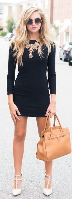 what to wear with black dress 10 best outfits Night Outfits, Mode Outfits, Fall Outfits, Fashion Outfits, Outfit Vestido Negro, Look Fashion, Autumn Fashion, Who What Wear, Outfit Elegantes
