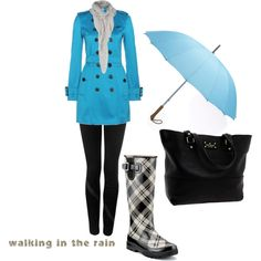 Love a good rainy day! This outfit and rain boots are perfect for one!