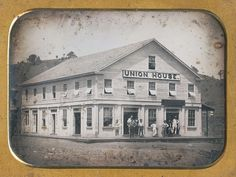 UNION HOUSE BIDWELL BAR CA. A fire destroyed the first Union House (also known as Fitzgerald House) August 2 1854 along with most of the town