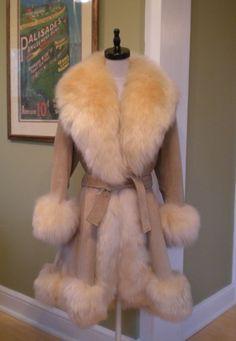 LILLI  ANN Boho Princess Coat Vintage 60s 70s by MadamLulasVintage