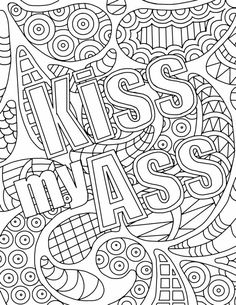 Swear word coloring book pages