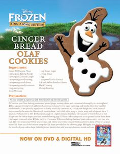 Gingerbread Olaf Cookies.