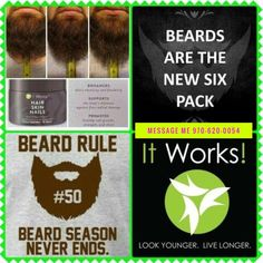 I know it's only October....but why not get ahead of the game⁉️ #Movember is coming #men and you know what that means...No Shave November‼️🎅🏻👴🏻 Growing thicker full facial hair....be the stud of all your male friends.... Receive my wholesale discount Comment Below or Text me 970-620-0054 Shirley Cromer #nails #hair #skin #natural #plantbase #healthy #smoothnails #strongernails #manicure #acrylicnails #salon #mustache #beards #facialhair #mensfashion #menshair