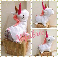 Licorne peluche, doudou, grand format de la boutique mlfabric sur Etsy