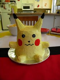 Just A Frugal Mom: Pokemon Birthday Party, Ice cream cone ears, twinkie arms and legs, fruit roll up cheeks!