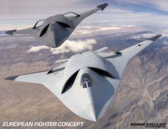 Confira este projeto do @Behance: \u201cEuropean sixth-generation concept fighter aircraft\u201d https://www.behance.net/gallery/54116177/European-sixth-generation-concept-fighter-aircraft