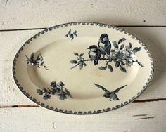 umla ViNtaGe French Bird Platter