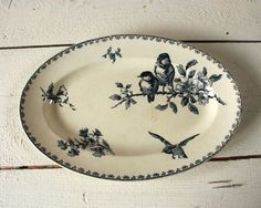 umla ViNtaGe French Bird Platter